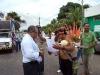 Davi Kopenawa - Presidente hay entrega carta ao administrador da FUNAI