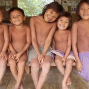 Schulkinder von Ixima