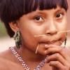 Die Yanomami schmücken sich mit Zierstäbchen