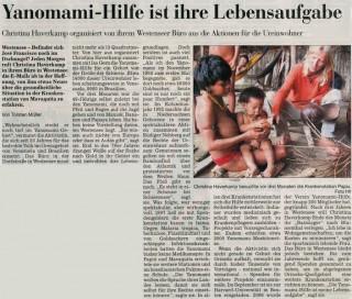 Yanomami-Hilfe ist ihre Lebensaufgabe