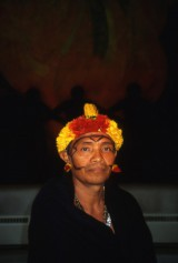 Yanomami chief Joao Davi Maraxi of Papiu