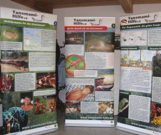 Ein Teil unserer Yanomami-Umwelt-Ausstellung