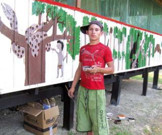 Leonar mit seinem Kunstwerk
