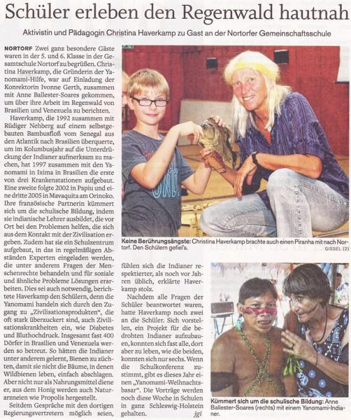 Landeszeitung - Schüler erleben den Regenwald hautnah