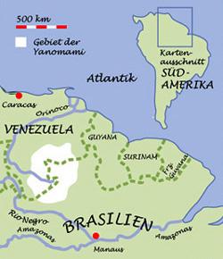 Landkarte Brasilien